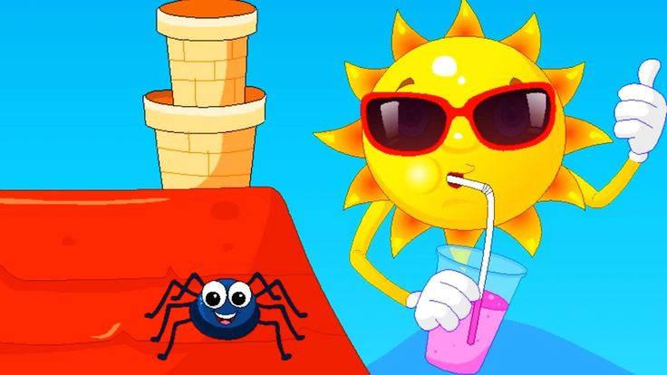 Children's song ITSY BITSY SPIDER TEACH ENGLISH New 2017 Full HD 1920x1080