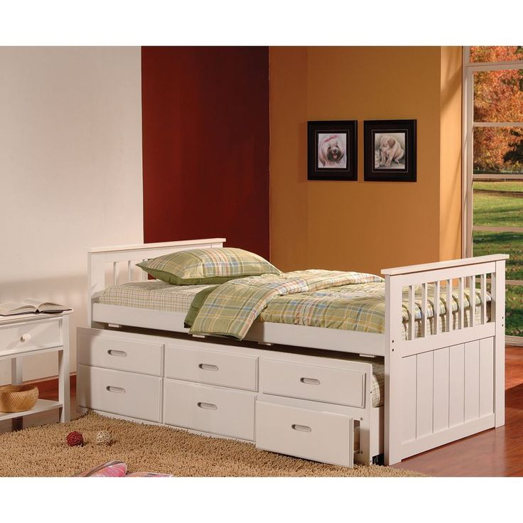 Bella Trundle Captains Bed with Drawers