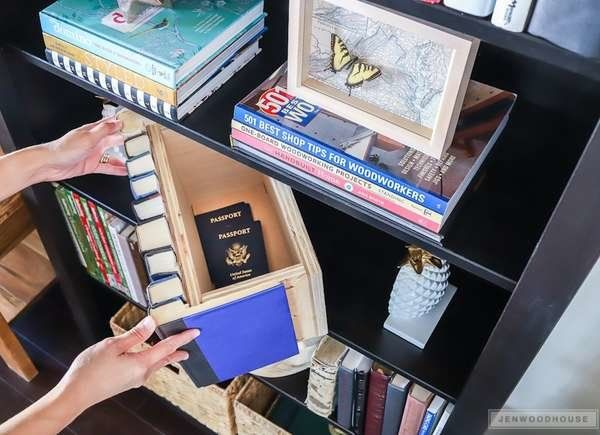9 Smart Uses For Dusty Old Books Hidden Book Book Storage Diy