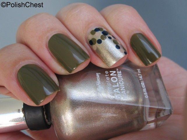 """Herbstliche """"Dotticure"""" - ein Nagel-Design mit SALLY HANSEN"""