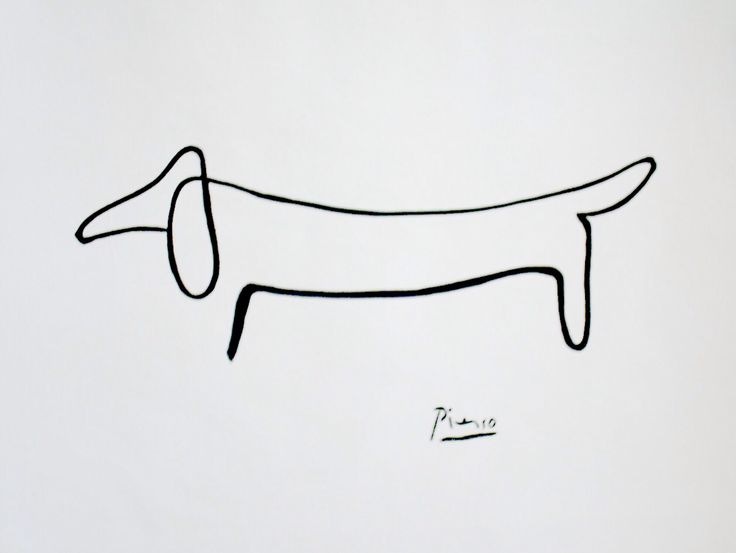 Contour Line Drawing Of A Dog : Best contour line drawings images on pinterest pablo