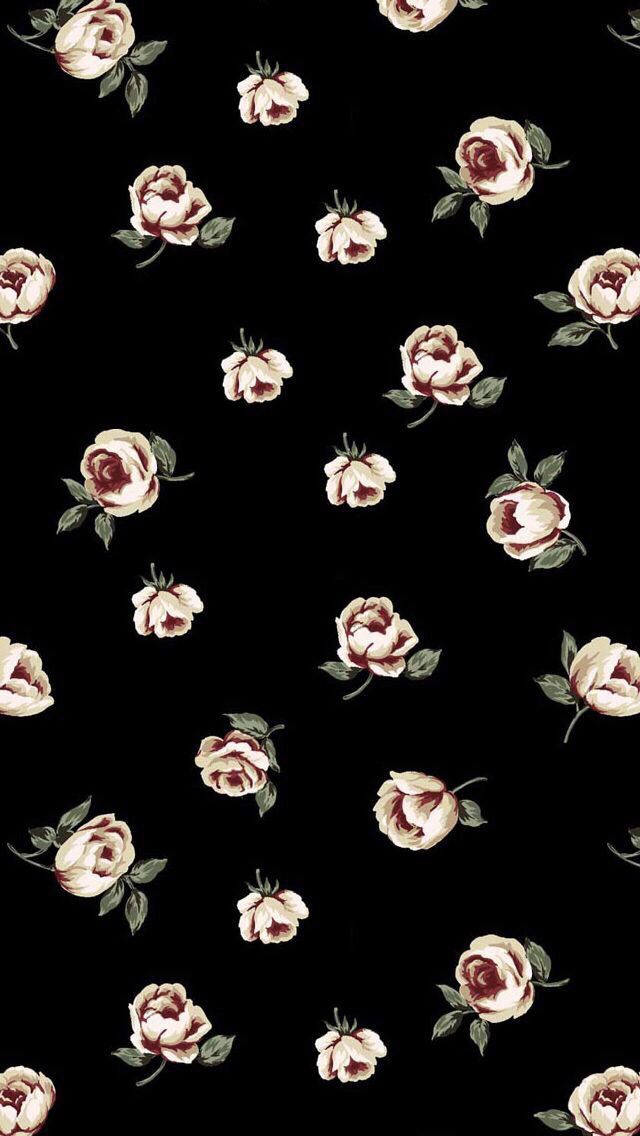 Visit Site To Download Wallpaper Cute For Iphone Cute Wallpaper For Iphone 142 Wallpape Vintage Flowers Wallpaper Best Flower Wallpaper Black Wallpaper Iphone