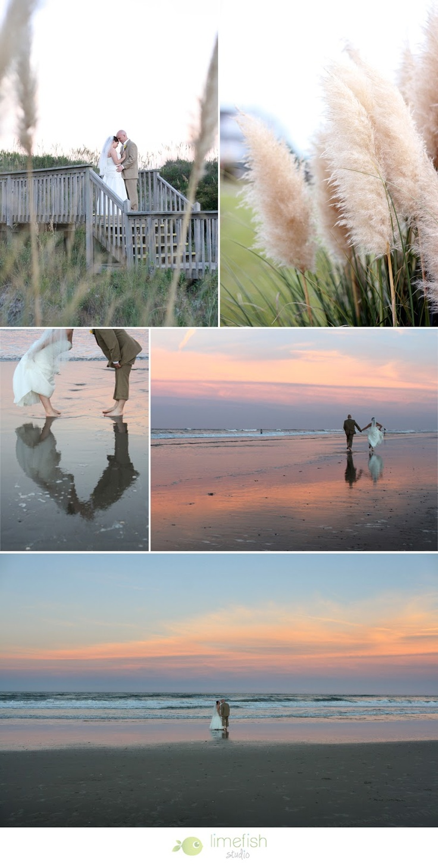 Outer Banks Beach Wedding by Limefish Studio
