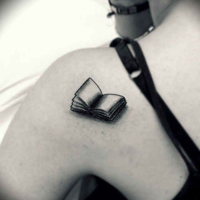 Pin for Later: 34 Tattoos Perfect For the Wallflower Types Bookworm