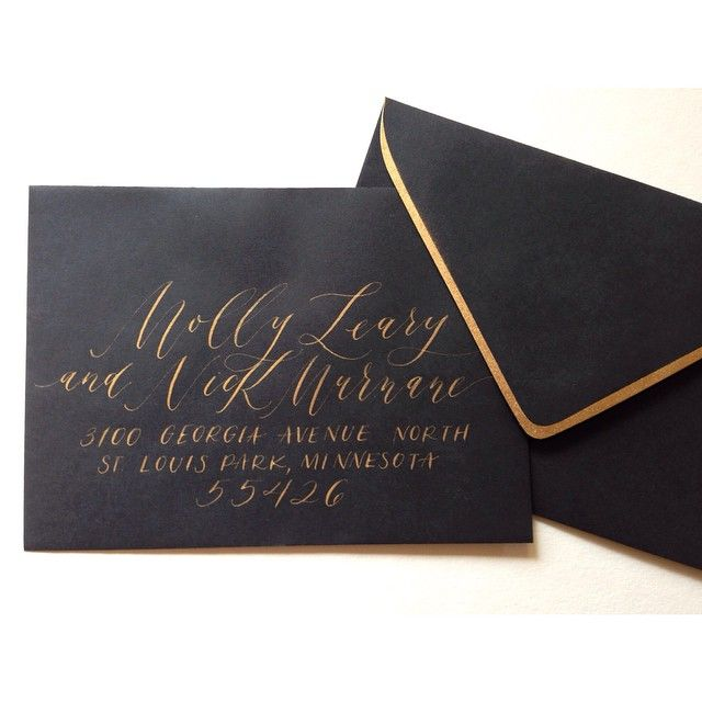 love the gold trim on the envelope
