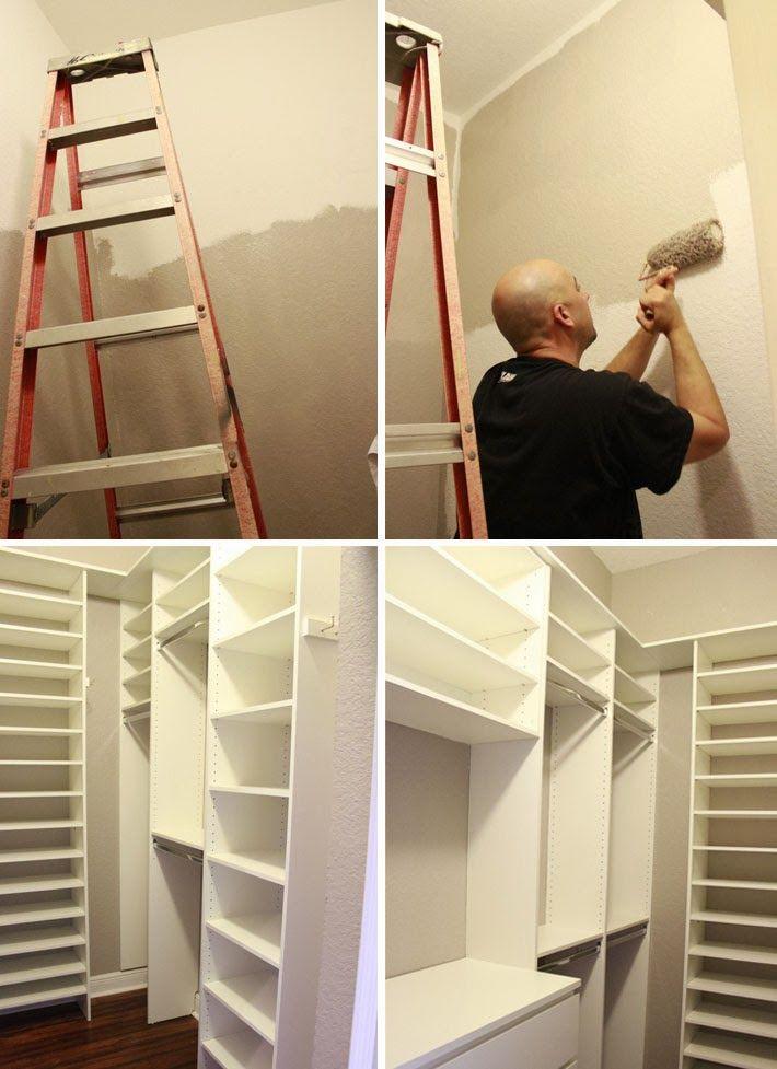Antes e Depois: closet pequeno - Comprando meu APê!