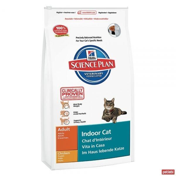 Hill's Adult Indoor Cat Chicken Ev Kedileri için Tavuklu Yetişkin Kedi Maması 1,5 Kg