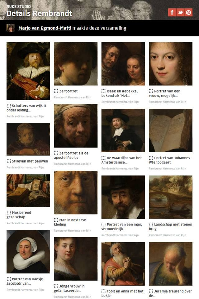 Rijksstudio set of the week: Details Rembrandt, made by Marjo van Egmond- mattie