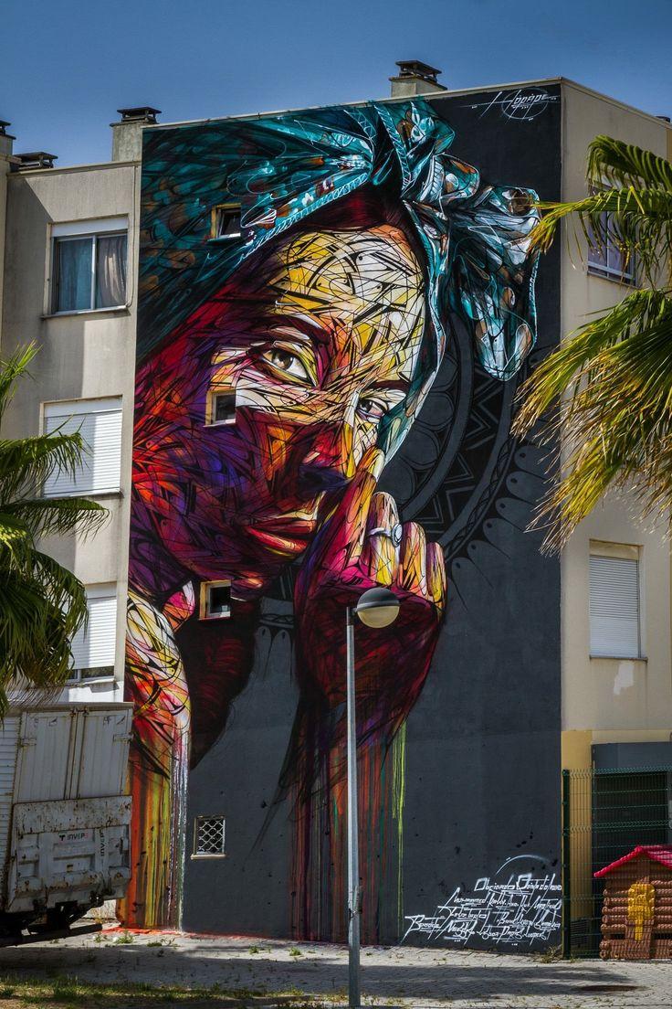 RT @GoogleStreetArt: New Street Art by Hopare found in Quinta do Monte Portugal…