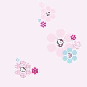 Hello Kitty behang bloem *