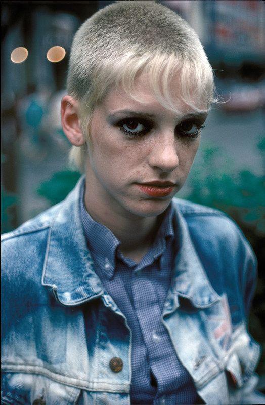 ha ha i had this cut circa 1997 just longer  bright red in front :D [78 — 87 london youth - derek ridgers]