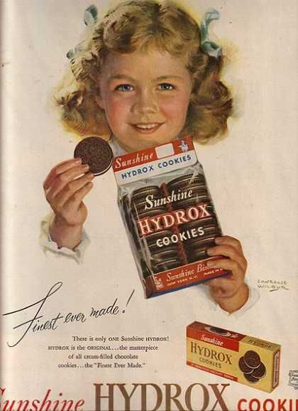 I remember Hydrox ... so good.  Owned by Keebler Cookies when they bought Sunshine in 1996....Kellogg's bought Keebler in 2001... Tried to bring back Hydrox in 2007 but it didn't work