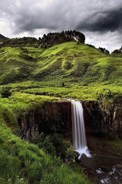 Sterkspruit Waterfall - Monks Cowl, Central Drakensbrg, Kwazulu-Natal