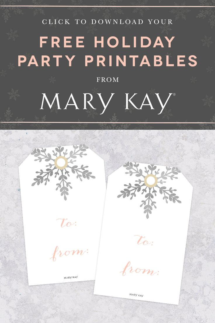 ... holiday gift tags inspired by the spirit of the season. | Mary Kay