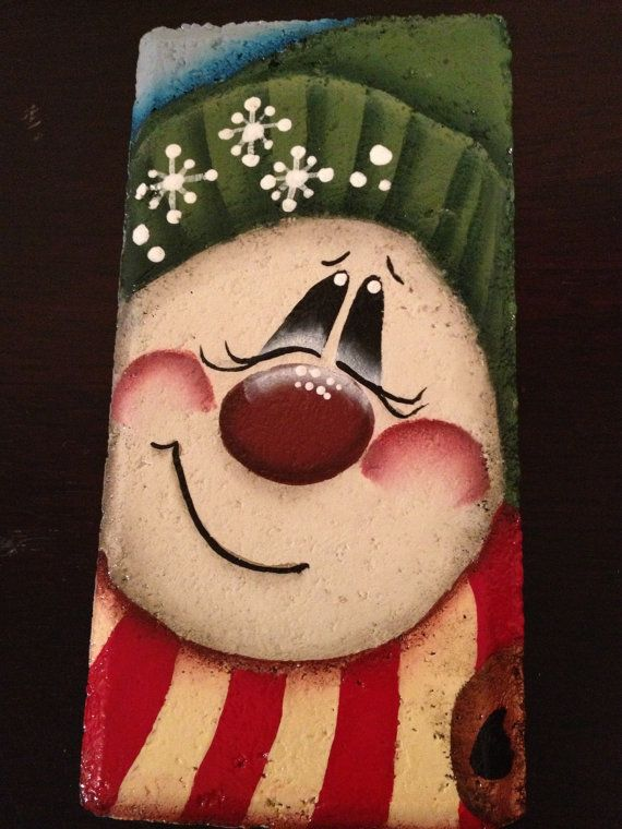 Hey, I found this really awesome Etsy listing at http://www.etsy.com/listing/117078890/welcome-flakes-snowman-brick