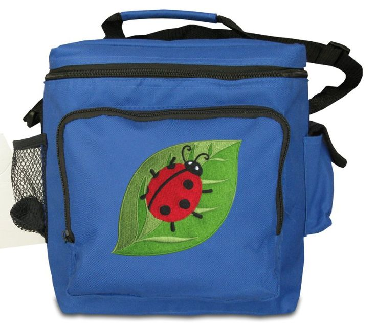 Lunch Bags Broad Bay image - Ladybug Large Lunch Bag Blue Ladybug Design Soft Style Large Lunchbox - For a Child or Adult