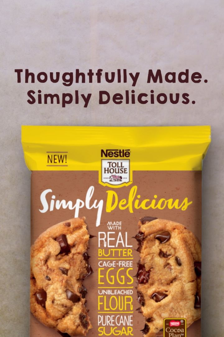 Nestle Toll House Chocolate Chip Cookies Ready To Bake