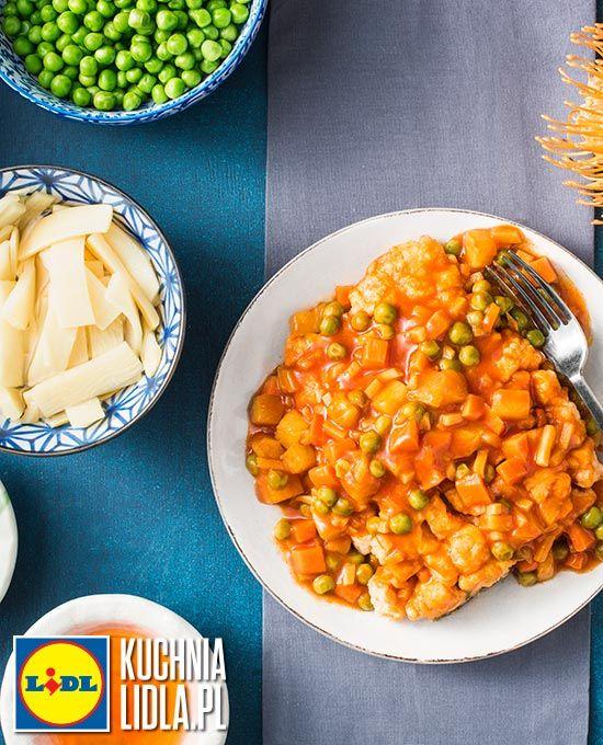 Łosoś z woka w sosie słodko-kwaśnym. Kuchnia Lidla - Lidl Polska. #liu #chiny #losos #wok