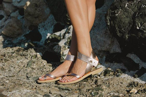 MODEL ★PENELOPE★ ☼Picture color Snake rose gold☼ Items details: All leather sandals are made from superior leather combined with a recyclable rubber sole, hand-crafted in Greece designed for comfort and durability. We use the finest materials from local suppliers. We use only the best quality of cow leather. We prefer leather because it's strong, long-lasting, but also flexible, allowing the sandal to embrace your foot. Our sandals are manufactured in the traditional way. The sandal is bu...