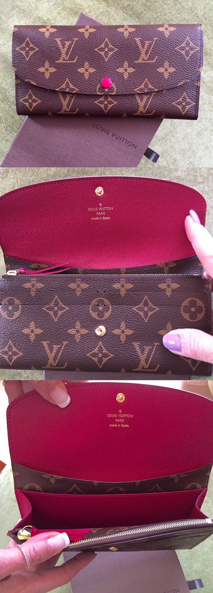 Louis Vuitton Emilie Wallet in fuchsia. Love it - and it holds my iPhone 6. Lovely wallet!