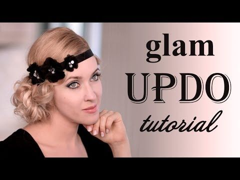 ▶ Holiday hairstyle tutorial: glam faux bob updo for long hair - YouTube