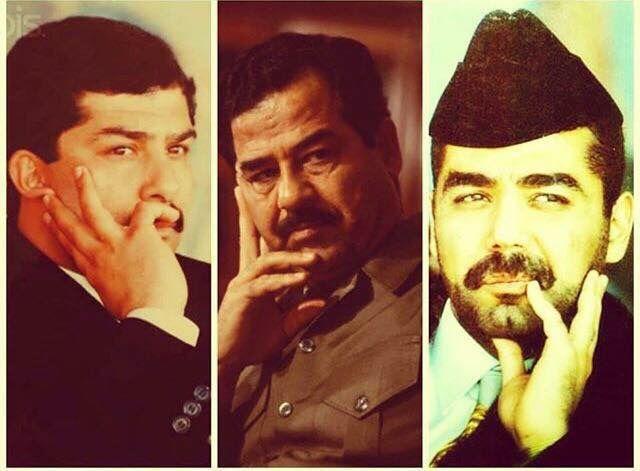 Saddam Hussein and son,Qusay and Uday | Evil | Saddam ...