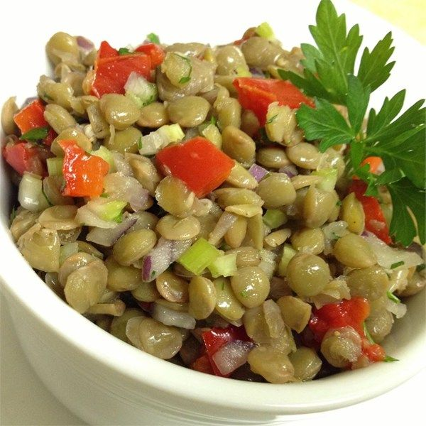 Mediterranean Style Recipes: Mediterranean Style Roasted Red Pepper And Lentil Salad