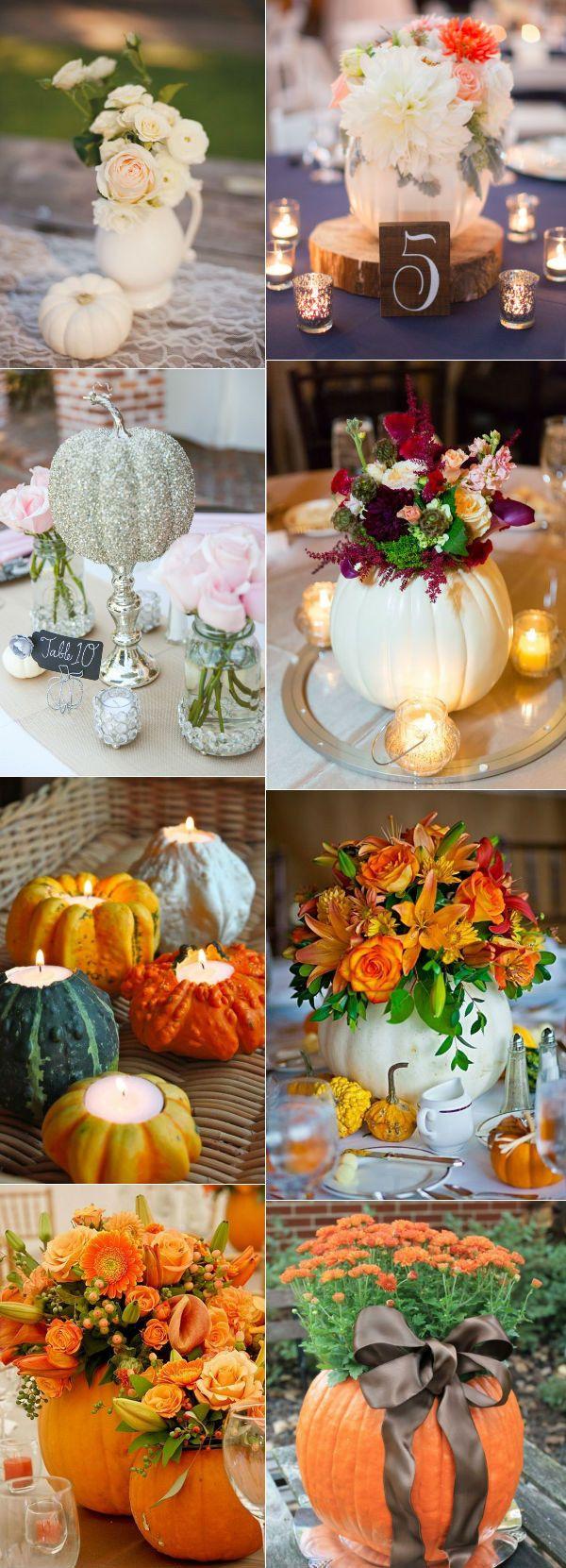 pumpkin inspiration fall wedding centerpieces