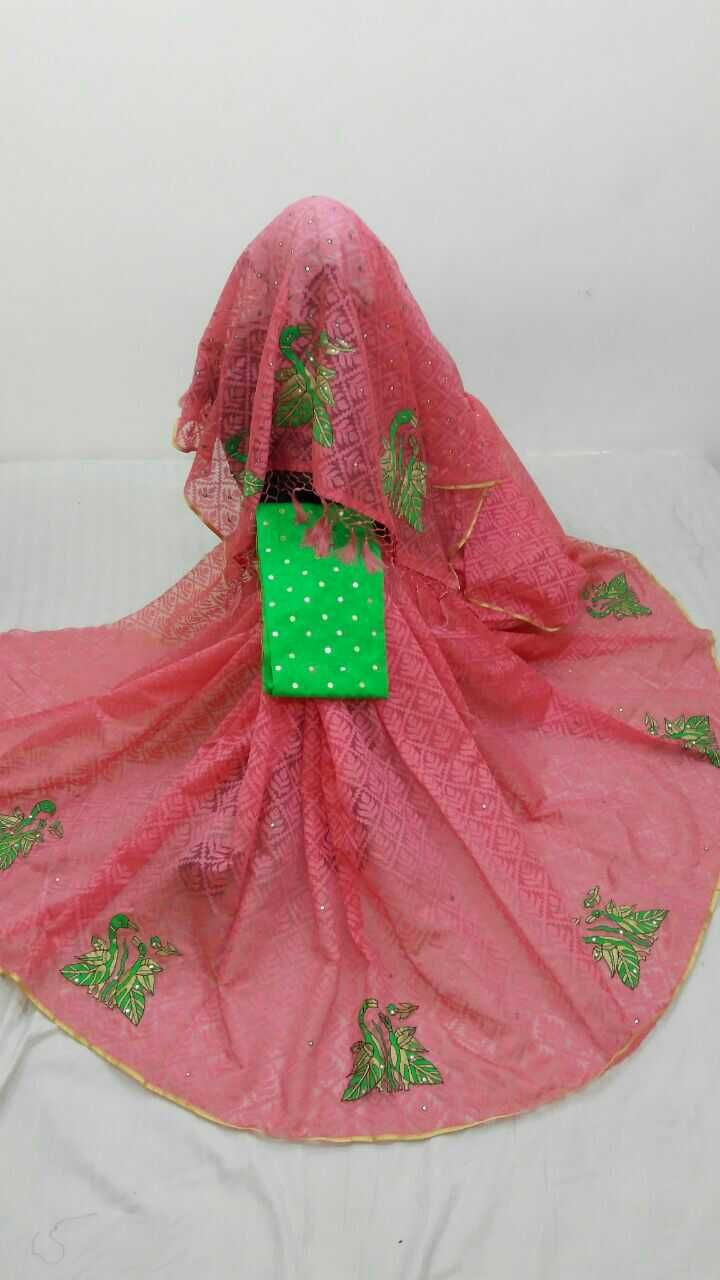 Jute patola with patch work and rawsilk blouse