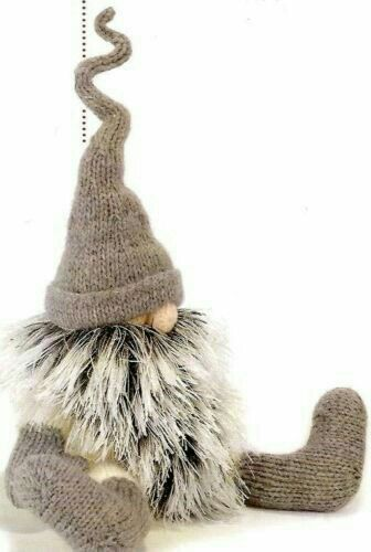 Gnome in Knitted hat and socks