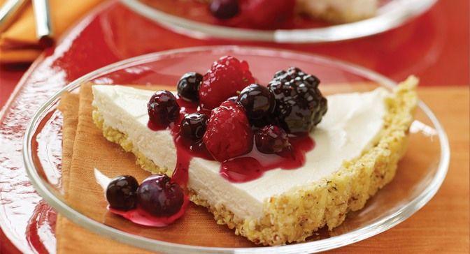 Blueberry Mascarpone Cheesecake With Amaretti Crust Recipe ...