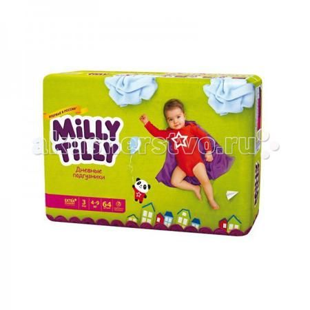 Milly Tilly Дневные подгузники Миди 3 4-9кг 64 шт.  — 1080р. ---  Дневные подгузники для детей Milly Tilly Миди3 4-9кг - оптимальный выбор современной заботливой мамы, для которой на первом месте стоит здоровье малыша.    7 степеней комфорта для Вашего малыша:    МЯГКОСТЬ И КОМФОРТ - нежный материал в виде сот прилегает к коже, дарит малышу невероятный комфорт   ДЫШАЩИЙ МАТЕРИАЛ - структура верхнего слоя в виде сот позволяет свободно циркулировать воздуху внутри подгузника  КОМФОРТ В…