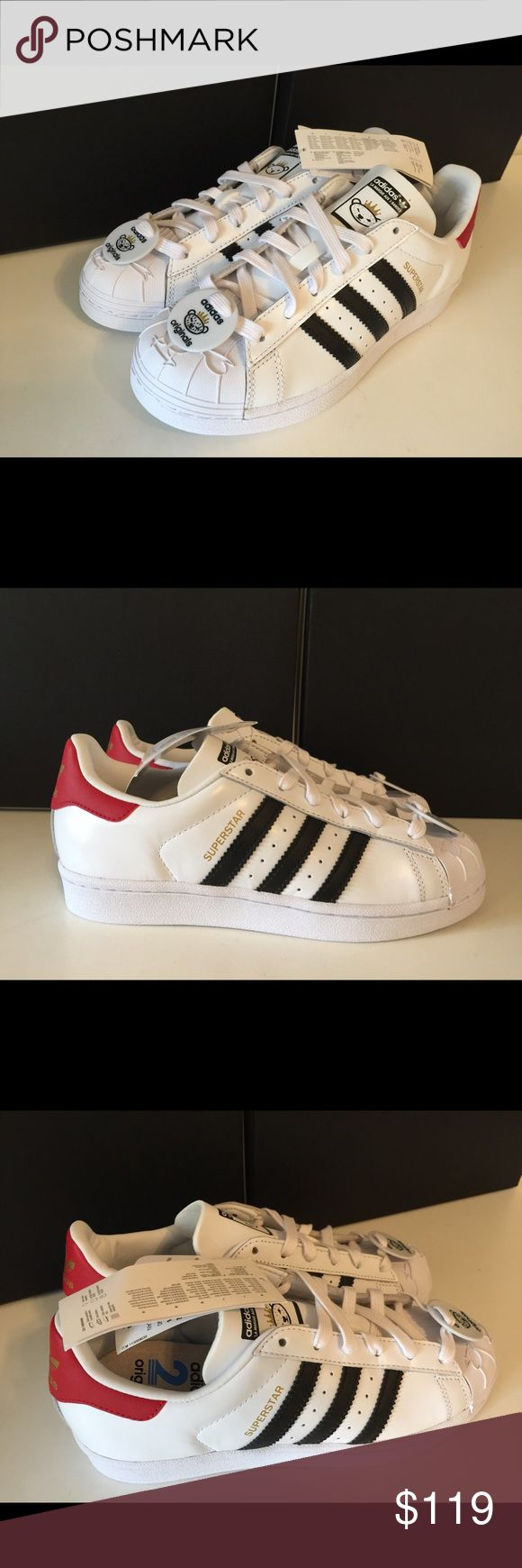 New Adidas Superstar with Nigo Bear Tag 100% Authentic guaranteed! Does not come with the original box. Adidas Shoes Sneakers