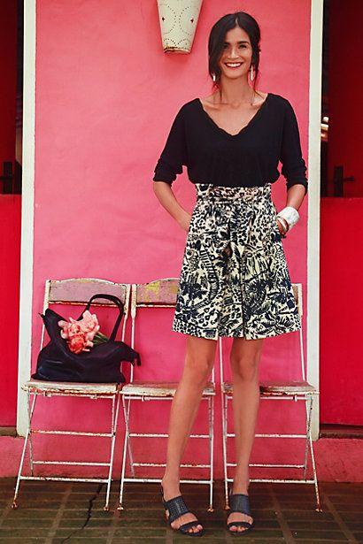 Palm Garden Skirt #anthropologie