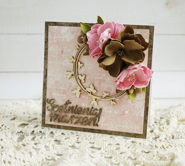 Blog Craft Passion Urodzinowa Z Kwiatamibirthday Card With Flowers