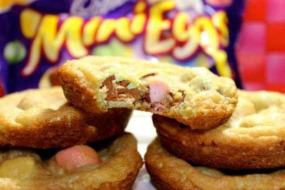 Cadbury Mini Eggs Cookies