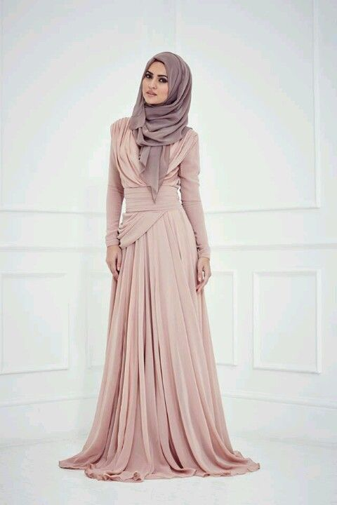 Zahrah gowns by Inayah.. Pastel rose and mauve.