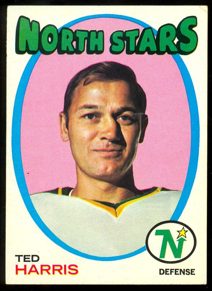 1971 72 TOPPS HOCKEY 32 TED HARRIS NM MINNESOTA NORTH STARS WILD FREE SHIP #MinnesotanorthstarsWild