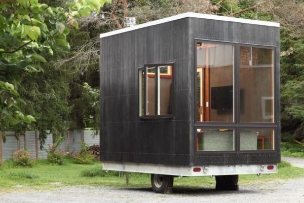 The 12ft Adirondack Tiny House with 'Secret Bed' Built into Floor!