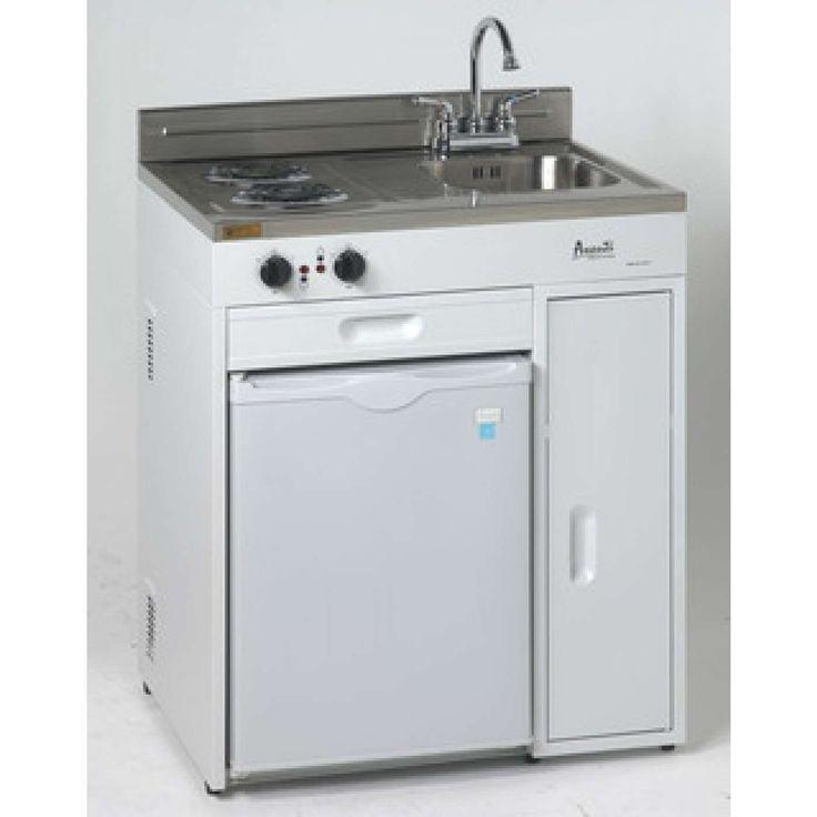 """30"""" White Compact Kitchen"""