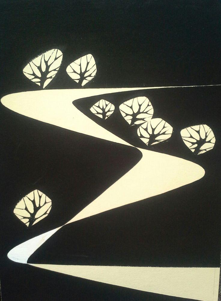 Vajda Lajos (1922 - 2008) Plakát terv. Tempera,papír. Mihály Gyűjtemény
