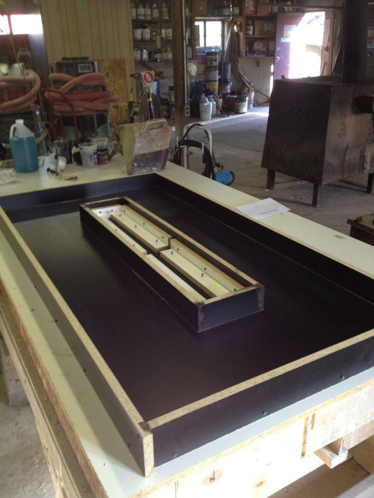 Building A Concrete Countertop For A Fire Pit Fire Pit