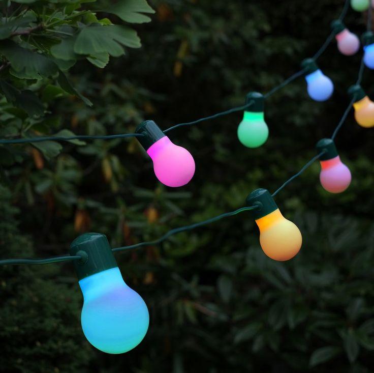 Guirlande solaire festive 20 ampoules led couleur changeante