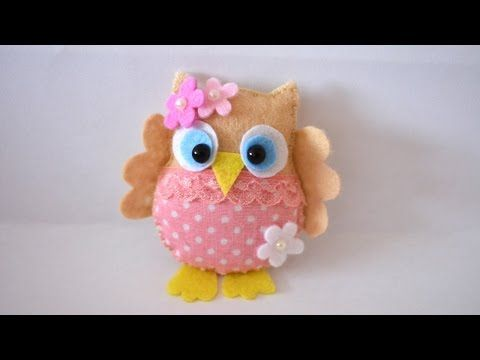 How To Make a Pretty Felt and Fabric Owl - DIY Crafts Tutorial - Guidecentral - YouTube