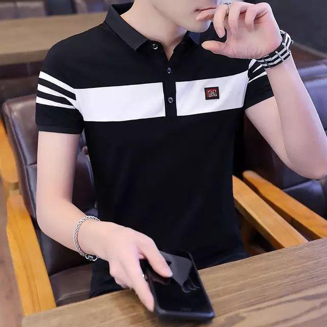 Tienda Online Gran Oferta Para Hombre Camisa Polo A Rayas Algodon Manga Corta Golf Tenis Polos Solido En 2020 Ropa De Moda Hombre Ropa Casual Hombres Moda Ropa Hombre