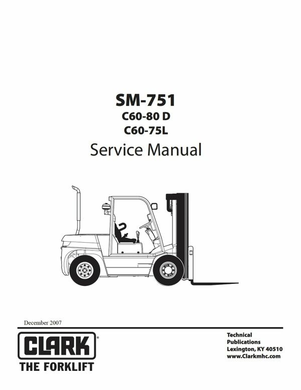 Pdf Download Clark C60-80D C60-75L Forklift Factory