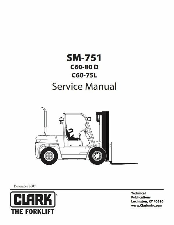 Pdf Download Clark C60-80D C60-75L Forklift Factory