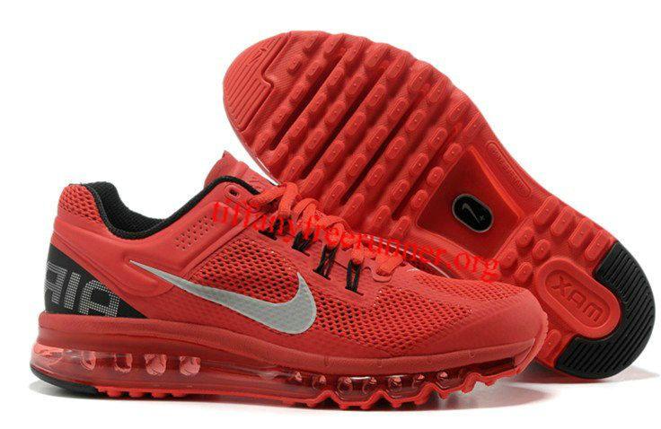 Mens Nike Air Max 2013 Red Black Shoes
