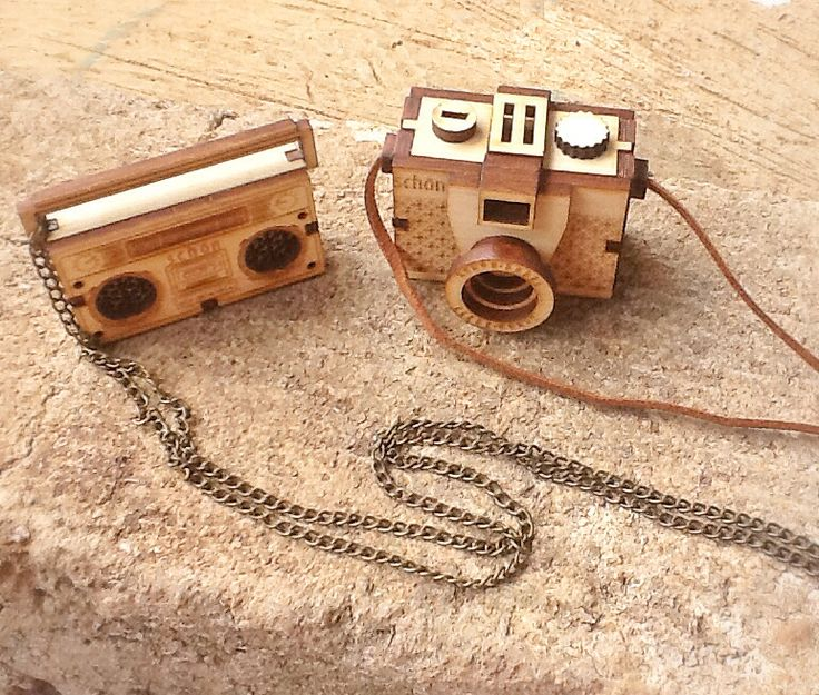 Wooden Schon Camera and radio