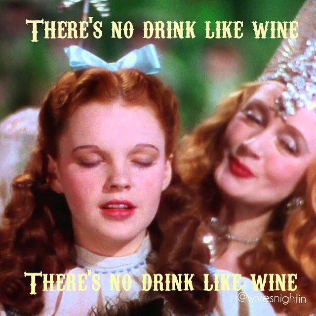 There's no drink like wine! Funny wine meme, Wizard of Oz #WineMemes